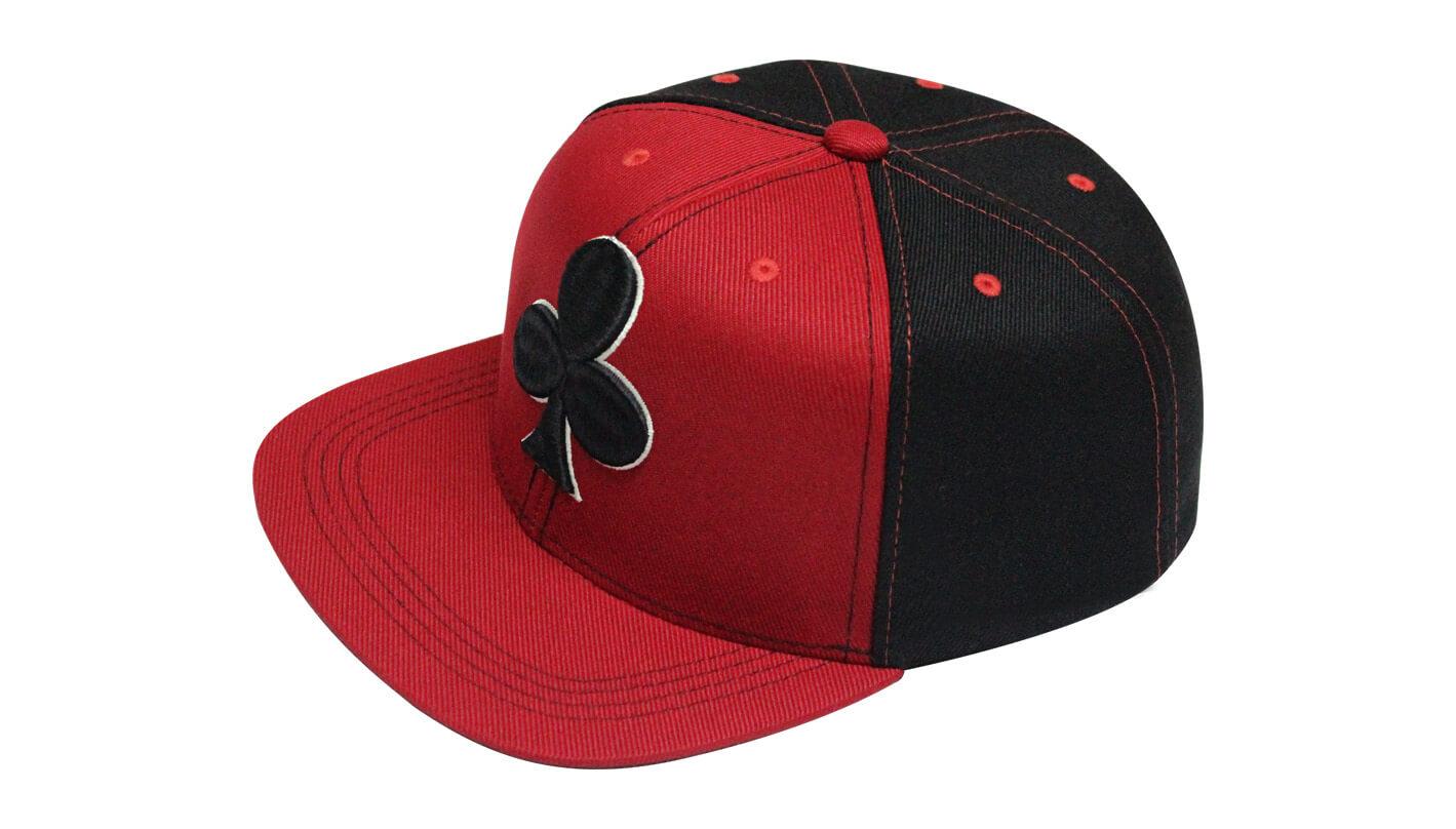 aaea1a460ce54 Boné aba reta vermelho e preto - Hezzitu fábrica de bonés