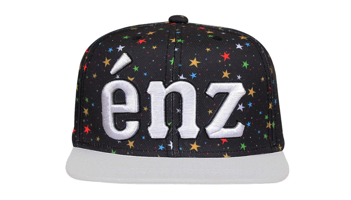 Boné aba reta preto e branco - Hezzitu bonés personalizados 067fc29c94507