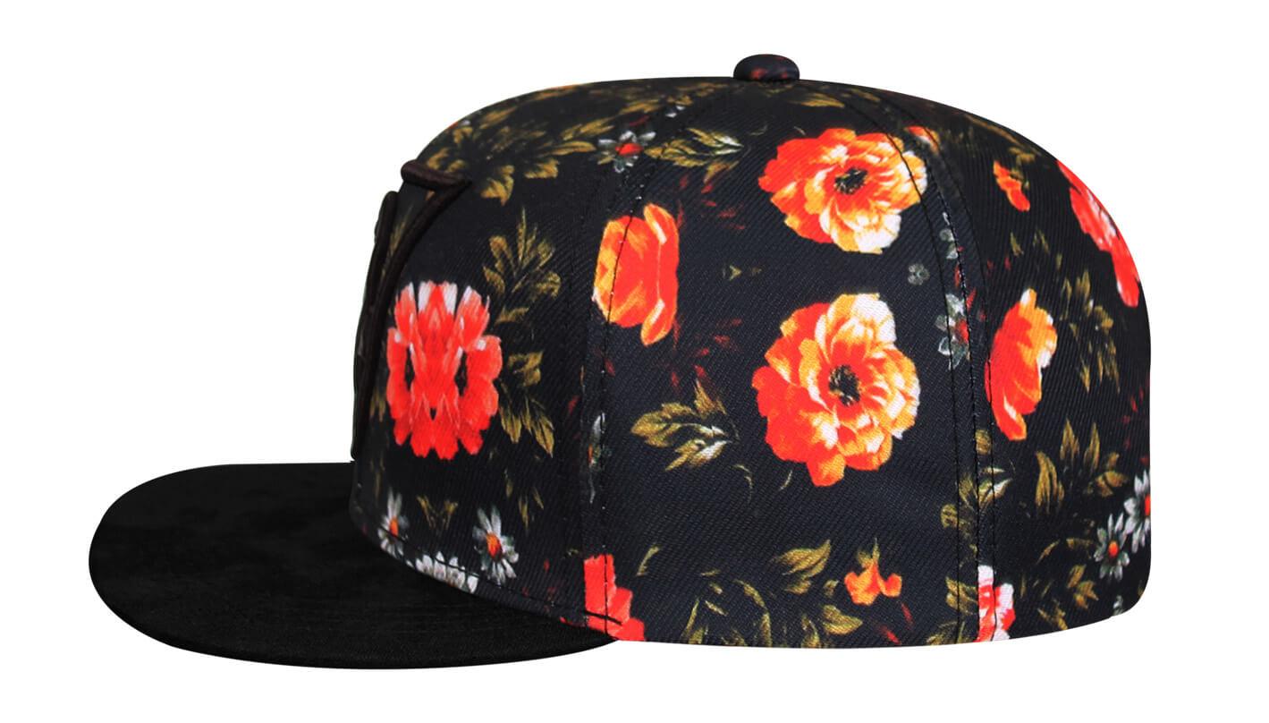 Boné snapback floral - Hezzitu fábrica de bonés personalizados efb0bfef031