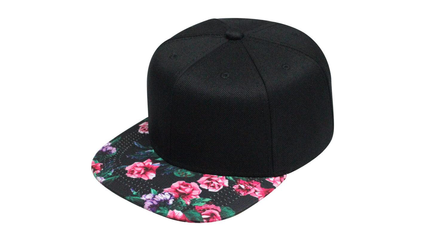 e2f7d0ce376e1 Strapback com aba reta floral - Hezzitu fábrica de bonés personalizados
