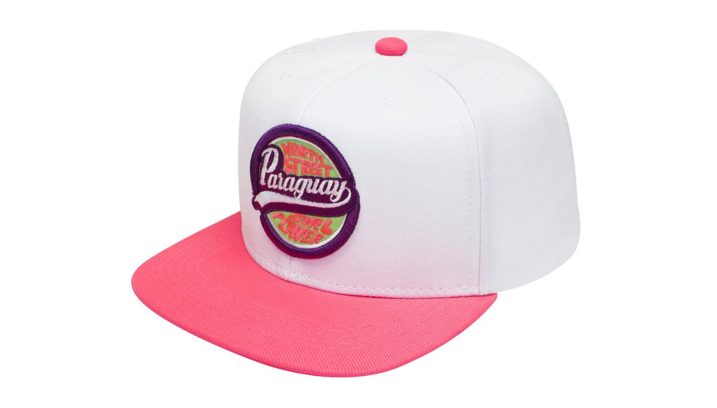 Boné aba reta branco e rosa - Hezzitu bonés personalizados femininos 07a05bda533e8