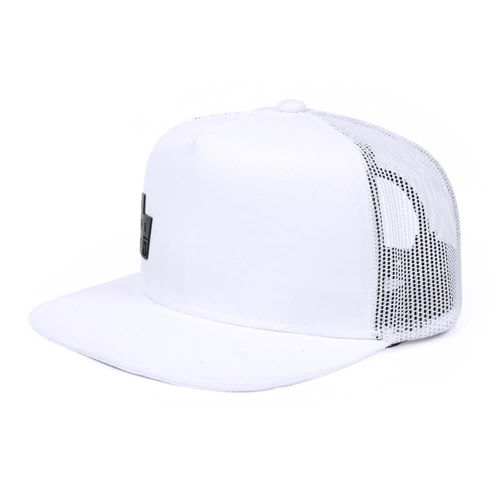 Boné aba reta de tela branco - Hezzitu bonés personalizados f75ffd9a2ee